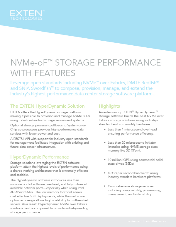 NVMe-oF™ Storage Performance with Features Thumbnail