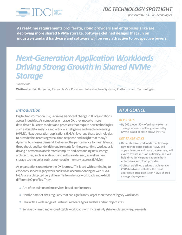IDC Report: How Next Generation Applications Drive Growth in NVMe-oF Thumbnail