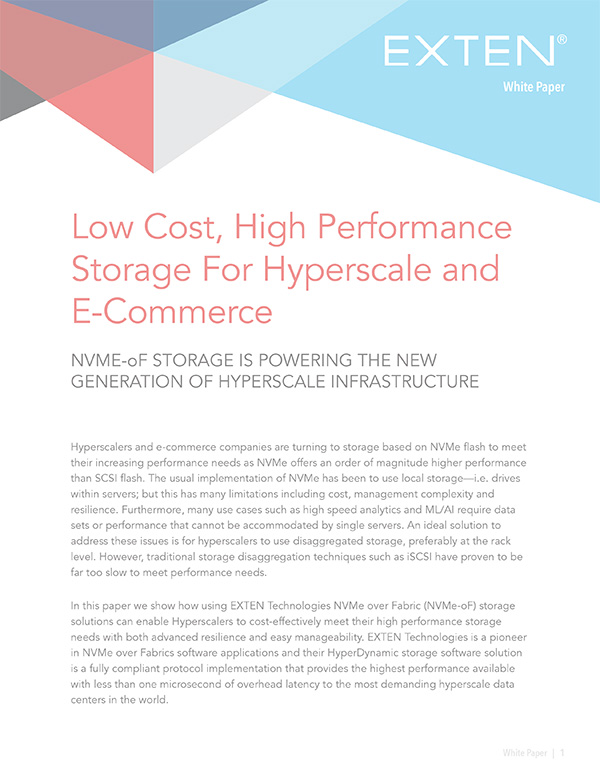Low Cost, High Performance Storage For Hyperscale and E-Commerce Thumbnail